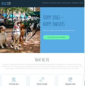 one page site dog walking